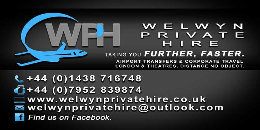 Welwyn Private Hire Business Card