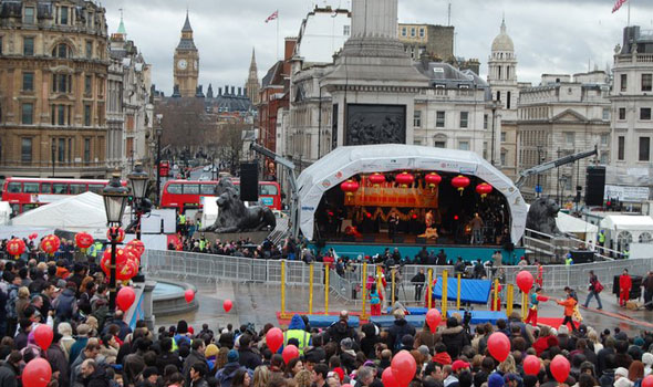 Trafalgar square chinese new year