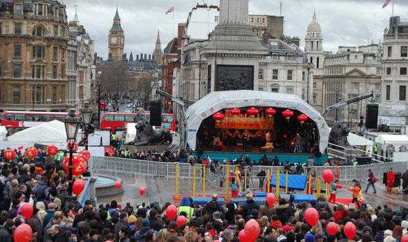 Trafalgar square chinese new year