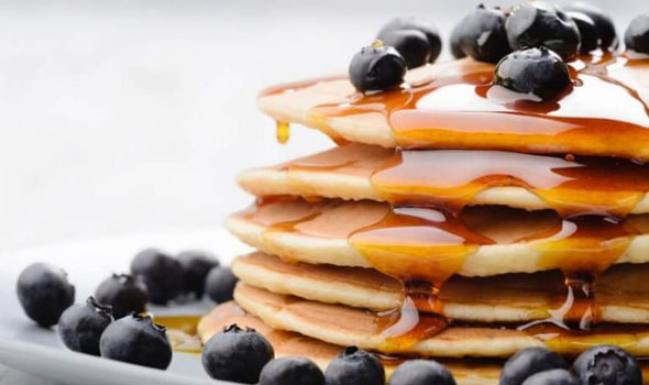 pancake and blueberries